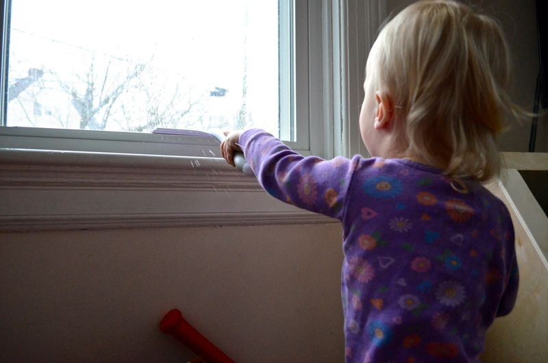 Window washing toddler8