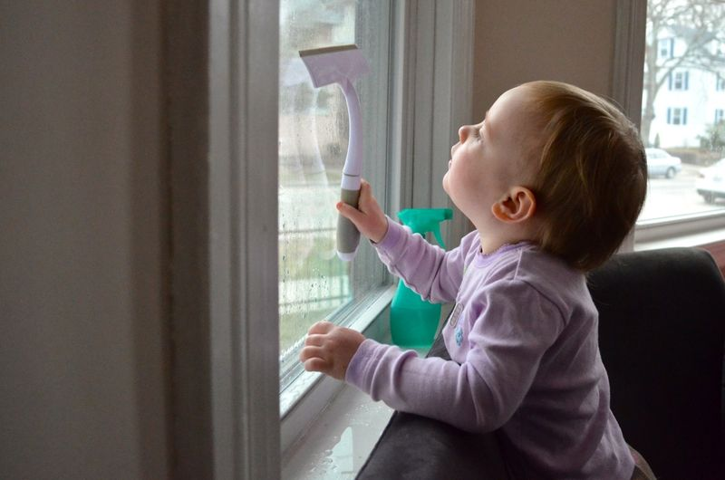 Window washing toddler9