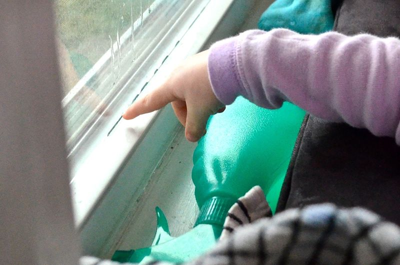 Window washing toddler7