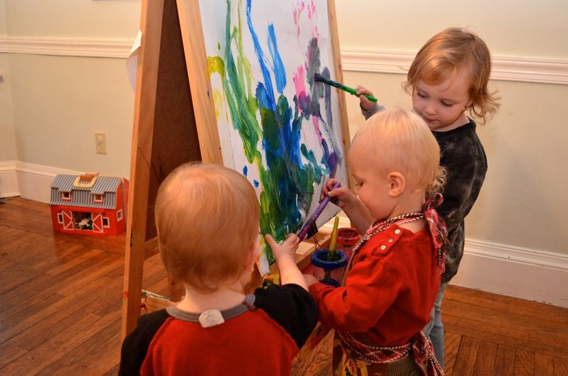 Three-kids-painting