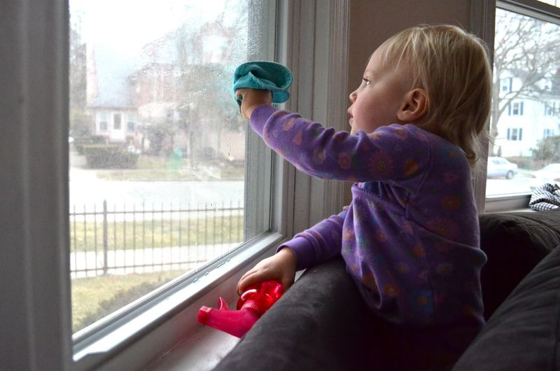Window washing toddler4
